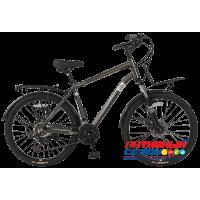 """Велосипед TechTeam Velvet (26"""", 21 скор.) (Р-р= 19"""", Цвет: Графит, Песочный) Рама алюминий"""