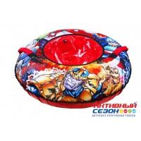 """Тюбинг  """"Мстители"""" с круговым дизайном (диаметр чехла 1000 мм)"""