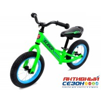 """Велобег 12"""" Slider надувные шины со спицами (матовый зеленый)"""