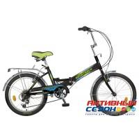 Велосипед Novatrack FS-30 (20'' 6 скор.) (Цвет: Черный, Синий) Рама Сталь