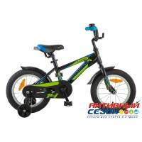 """Детский велосипед Novatrack Lumen 14"""" (Черный; зеленый; Серебристый) Рама Алюминий"""