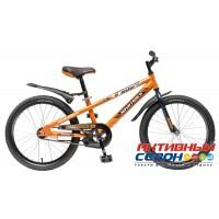 """Велосипед Novatrack Juster (20"""" 1 скор.) (Цвет: Оранжевый; Черный) Рама Сталь"""