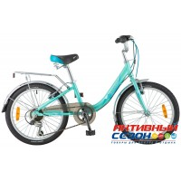 """Велосипед Novatrack Ancona (20"""" 6 скор.) (Цвет: Белый; Зеленый) Рама Алюминий"""