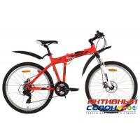 """Велосипед Foxx ZING H2 (26"""" 21 скор.) (Р-р = 18"""" Цвет: Красный) Рама Алюминий"""