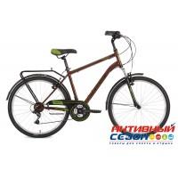"Велосипед Stinger Traffic (26"" 18 скор.) (Р-р = 18""; 20"" Цвет: Коричневый; Серый) Рама Сталь"