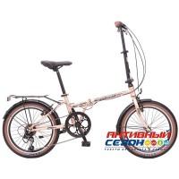 Велосипед складной Novatrack AURORA 20 (20'' 6 скор.) (Цвет: Золотистый беж, серебристый) Рама Сталь