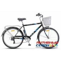 "Велосипед STELS NAVIGATOR 250 Gent Z010 (26"" 7 скор.) (Р-р = 19""; Цвет: Серый) + Корзина Рама Сталь"