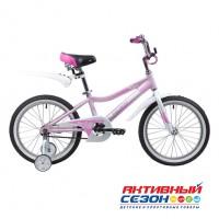 """Детский велосипед Novatrack Novara (18"""", 1 скор.) (Розовый) Рама Алюминий"""