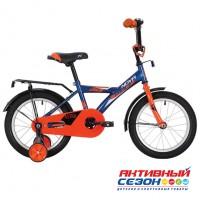 """Велосипед Novatrack Astra  (14"""" 1 скор) (Р-р=9, Цвет: Синий) Рама Сталь"""