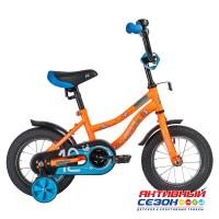 Детский велосипед Novatrack Neptune (12'' 1 скор.) (Оранжевый) Рама Сталь