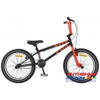"""Велосипед TechTeam Fox (20"""", 1 скор.) (Р-р= 20.5"""", Цвет: черно-красный, черно-синий ) Рама сталь"""