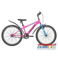 """Велосипед RUSH HOUR RX 400 C-brake ST (24"""" 1 скор) (Р-р13"""", Цвет розовый) Рама Сталь"""