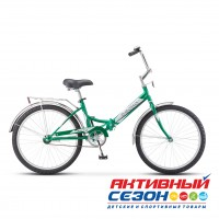 """Велосипед складной Десна 2500 Z010 (24"""" 1 скор.) (Р-р= 14, Цвет: Зеленый) Рама Сталь"""