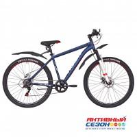 "Велосипед RUSH HOUR RX 705 DISC ST (27,5"" 6 скор) (Р-р18"", Цвет синий)  Рама Сталь"