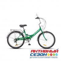 """Велосипед Stels Pilot 750 Z010 складной (24"""" 6 скор.) (Р-р = 16""""; Цвет: Зеленый) Рама Сталь"""