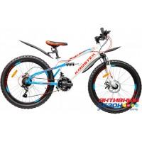 """Велосипед KROSTEK JETT 410 (24"""", 18 скор.) (Р-р= 14"""", Цвет: Белый) Рама сталь"""