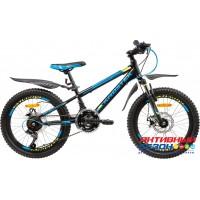 """Велосипед KROSTEK KRAFT 205 (20"""", 18 скор.) (Р-р= 12, Цвет: Синий) Рама сталь"""