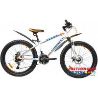 """Велосипед KROSTEK KRAFT 405 (24"""", 21 скор.) (Р-р= 14"""", Цвет: Белый) Рама сталь"""