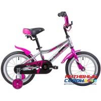 """Велосипед NOVATRACK 14"""" NOVARA (серебристый, лиловый)"""