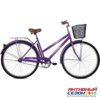 "Велосипед FOXX LADY FIESTA + передняя корзина (28"" 1 скор.) (Р-р= 20"" ,Цвет: фиолетовый) Рама Сталь"