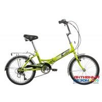 Велосипед складной Novatrack TG-30 (20'' 6 скор.) (Цвет: зеленый) V-Brake, багажник