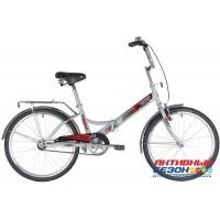 Велосипед складной Novatrack TG-24 classic (24'' 1 скор.) (Цвет: Серый) Рама Сталь