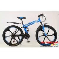"""Горный велосипед Trioblade 26 DISC (26"""" 21 скор.) ( Цвет: Синий) Рама сталь"""