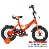 """Велосипед детский  Mustang 12"""" (оранжево - черный)"""