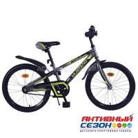 """Велосипед подростковый Mustang prime 20"""" (серо-салатовый)"""