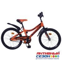 """Велосипед подростковый Mustang prime 20"""" (оранжево-черный)"""