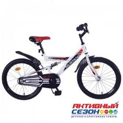 """Велосипед подростковый Mustang prime 20""""(бело-черный)"""