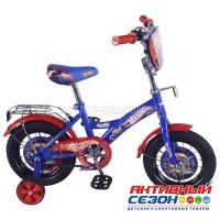 """Велосипед детский HOT WHEELS 16"""" с багажником (сине-красный)"""