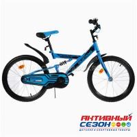 """Велосипед подростковый Mustang prime 20""""(сине-черный)"""