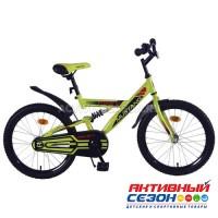 """Велосипед подростковый Mustang prime 20""""(салатово-черный)"""