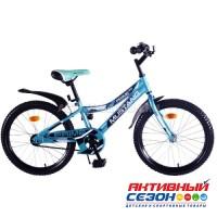 """Велосипед подростковый Mustang prime 20"""" (бирюзово-черный)"""