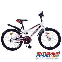 """Велосипед подростковый Mustang prime 20"""" (бело-черный)"""
