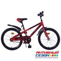 """Велосипед подростковый Mustang prime 20"""" (красно-черный)"""