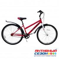 """Велосипед RUSH HOUR LADY 505 DISC ST (26"""" 6 скор) (Р-р15"""", Цвет: красный)  Рама сталь"""