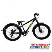 "Велосипед RUSH HOUR XS 430 BOOST DISC ST (24"" 6 скор) (Р-р14"", Цвет черный)  Рама алюминий"