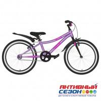 """Велосипед NOVATRACK 20"""" PRIME алюминиевая рама, фиолетовый металлик"""