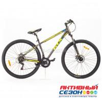 """Велосипед GTX BIG 2902 (29"""", 21 скор.) (Р-р= 17"""";  Цвет: Серый/желтый/голубой)"""