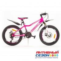 "Велосипед KROSTEK CRISTY 205  (20"", 18 скор.) (Р-р= 12"", Цвет: Розовый) Рама сталь (500024)"