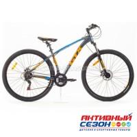 """Велосипед GTX BIG 2901 (29"""", 21 скор.) (Р-р= 19"""";  Цвет: Серый/желтый/голубой)"""