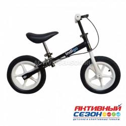Беговел Vector (накл.,ручной тор., рег.руль и сид.,колеса резина -30см, макс.нагр.30кг), (Indigo) черный-белый