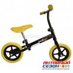Беговел Adventure (рег.руль и сиденье, колеса EVA-30,5см, макс.нагр.27кг, 2-5 лет), (Indigo) (желтый)