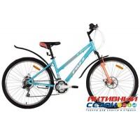 """Велосипед Foxx Bianka D (26"""" 18 скор.) (Р-р = 15"""", 17""""; Цвет: Белый. голубой) Рама Алюминий"""