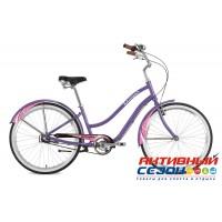 """Велосипед Stinger Cruiser NEXUS LADY (26"""" 3 скор.) (Р-р = 16.5"""", 18""""; Цвет: Белый, Фиолетовый) Рама Алюминий"""
