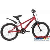 "Велосипед NOVATRACK PRIME (20"" 1 скор.) (Цвет: красный) Рама Сталь"