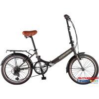 Велосипед складной Novatrack AURORA 20 (20'' 6 скор.) (Цвет: Коричневый) Рама Сталь