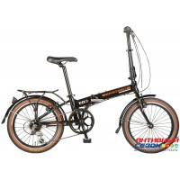 """Велосипед NOVATRACK TG-20 (20"""" 6 скор.) ( Цвет: черный) Рама алюминий"""